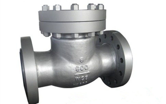 Metal Seated Piston Lift Check Valve Cast Steel Stellite Double Flanged Non Return Valve